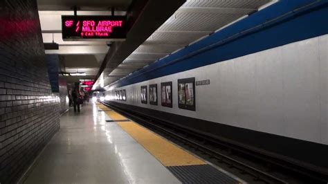 SF/SFO Airport/Millbrae Train Arriving at 19th St/Oakland