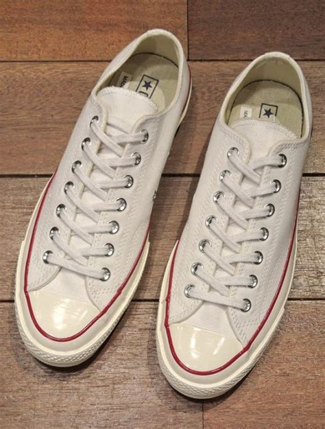 """CONVERSE CT 1970S LOW CHUCK TAYLOR """"FIRST STRING"""" (White / US 8"""