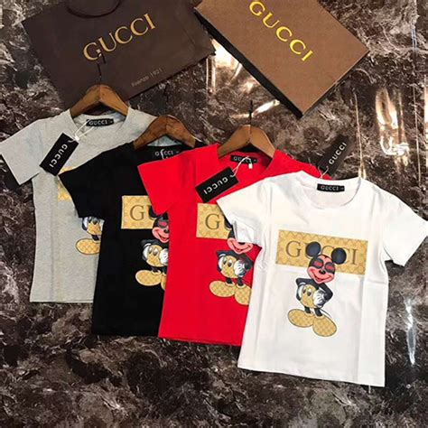 GUCCI(グッチ) with ミッキー Tシャツ パロディ 子供服 | 日本人対応